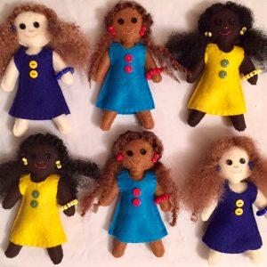 Melanin Spectrum™ Girl Dolls – Set of 3