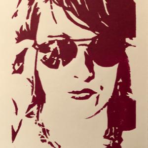 """""""Cool"""" – ORIGINAL woodcut handmade print"""