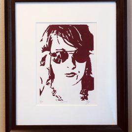 """Cool"" – ORIGINAL framed woodcut"