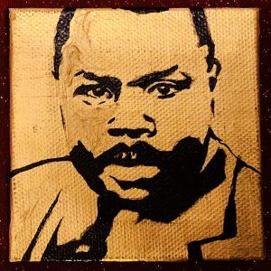 The Black & Gold Miniature Portrait Series: Marcus Garvey