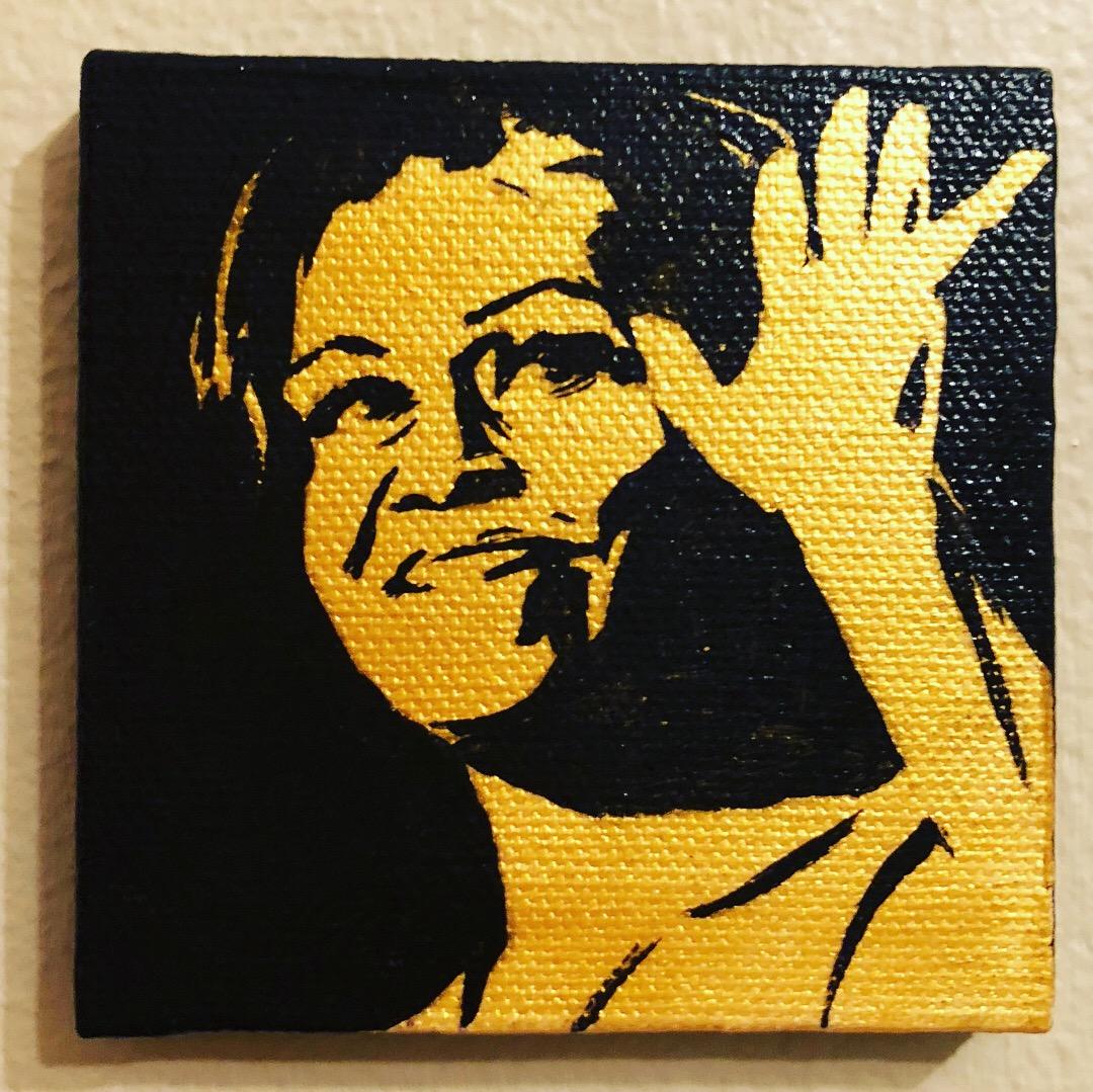 The Black & Gold Miniature Portrait Series: Michelle Obama