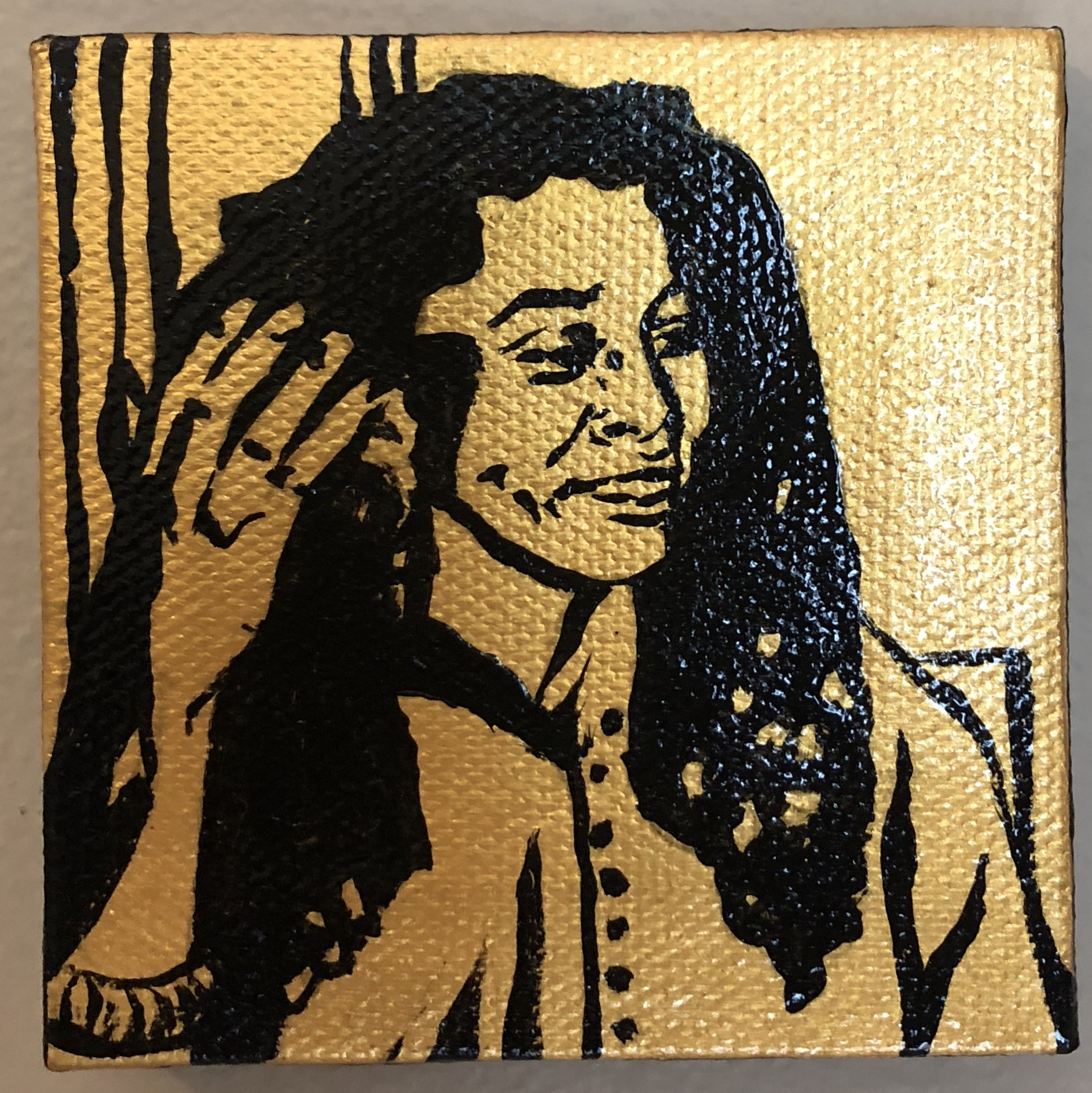 The Black & Gold Miniature Portrait Series: Assata Shakur