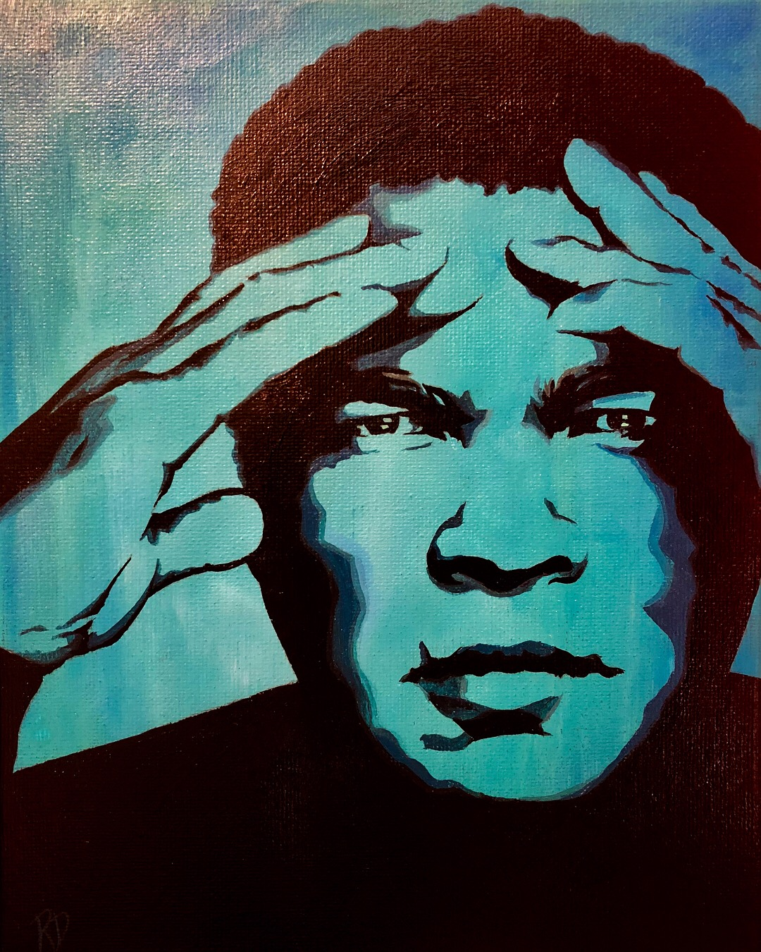 ORIGINAL PAINTING – The Blue Series: Muhammed Ali