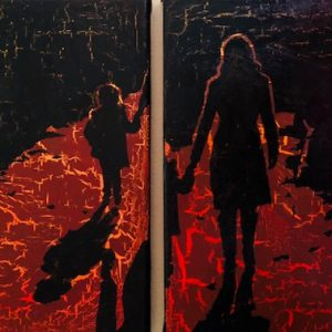 Separation: ORIGINAL PAINTING on two canvases
