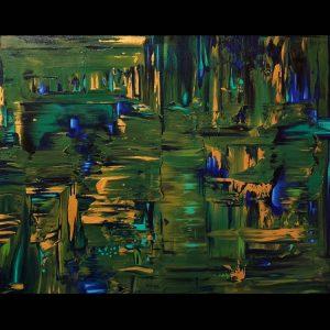 ORIGINAL PAINTING – Green Shimmer