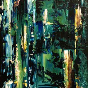 The Melanin Struggle: ORIGINAL PAINTING on canvas