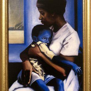 """Framed & Varnished Canvas Print of """"Blue Days"""""""