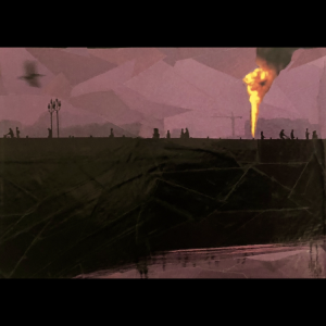 Purple Prose – an ORIGINAL Framed Cut Paper Collage