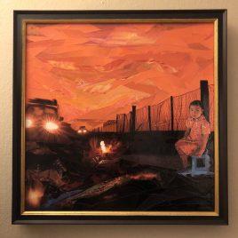 Outside the Fence: ORIGINAL framed art