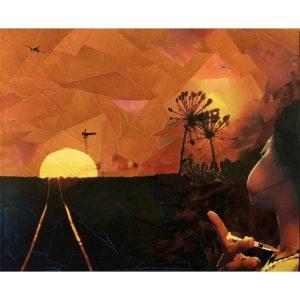 Incurable – ORIGINAL Framed Cut Paper Collage