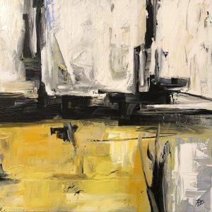 Black Lines: ORIGINAL PAINTING on canvas