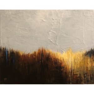 Gray Sky ~ ORIGINAL acrylic painting on canvas