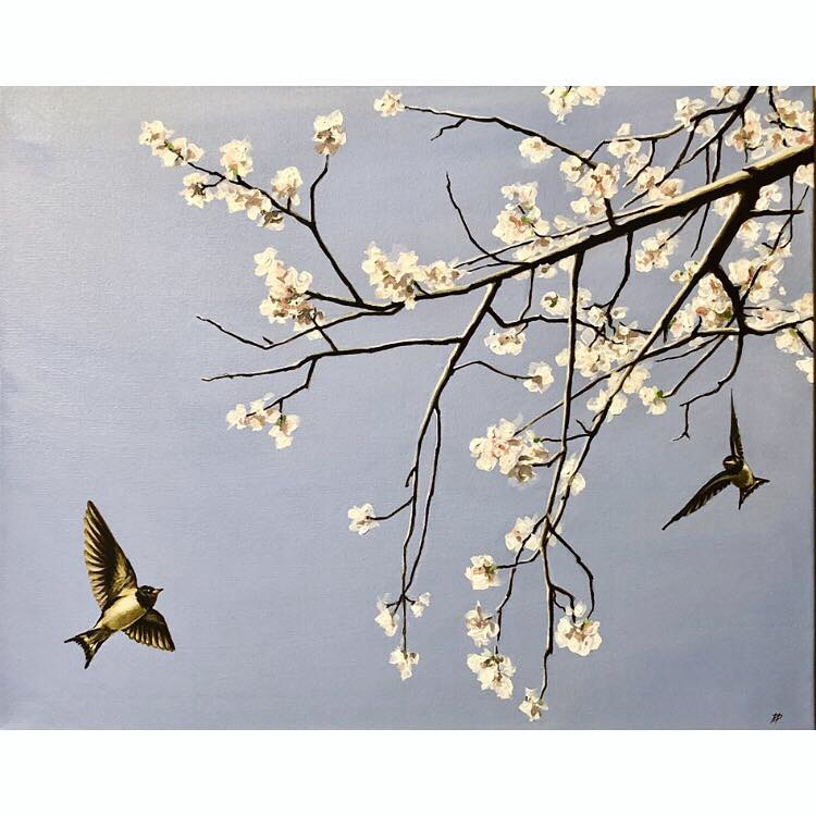 Spring Fever ~ ORIGINAL acrylic painting on canvas