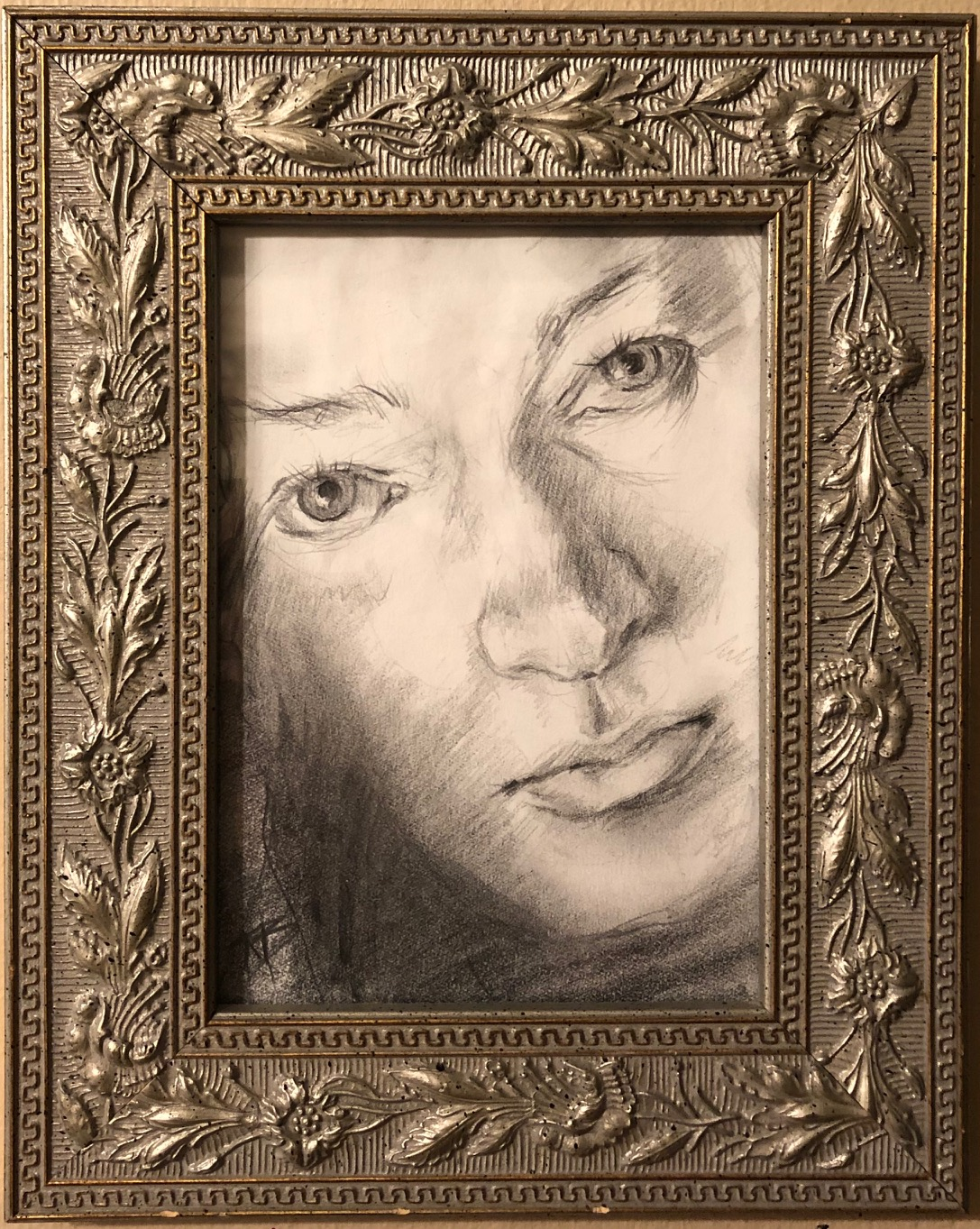 Self Portrait: Original Framed Art