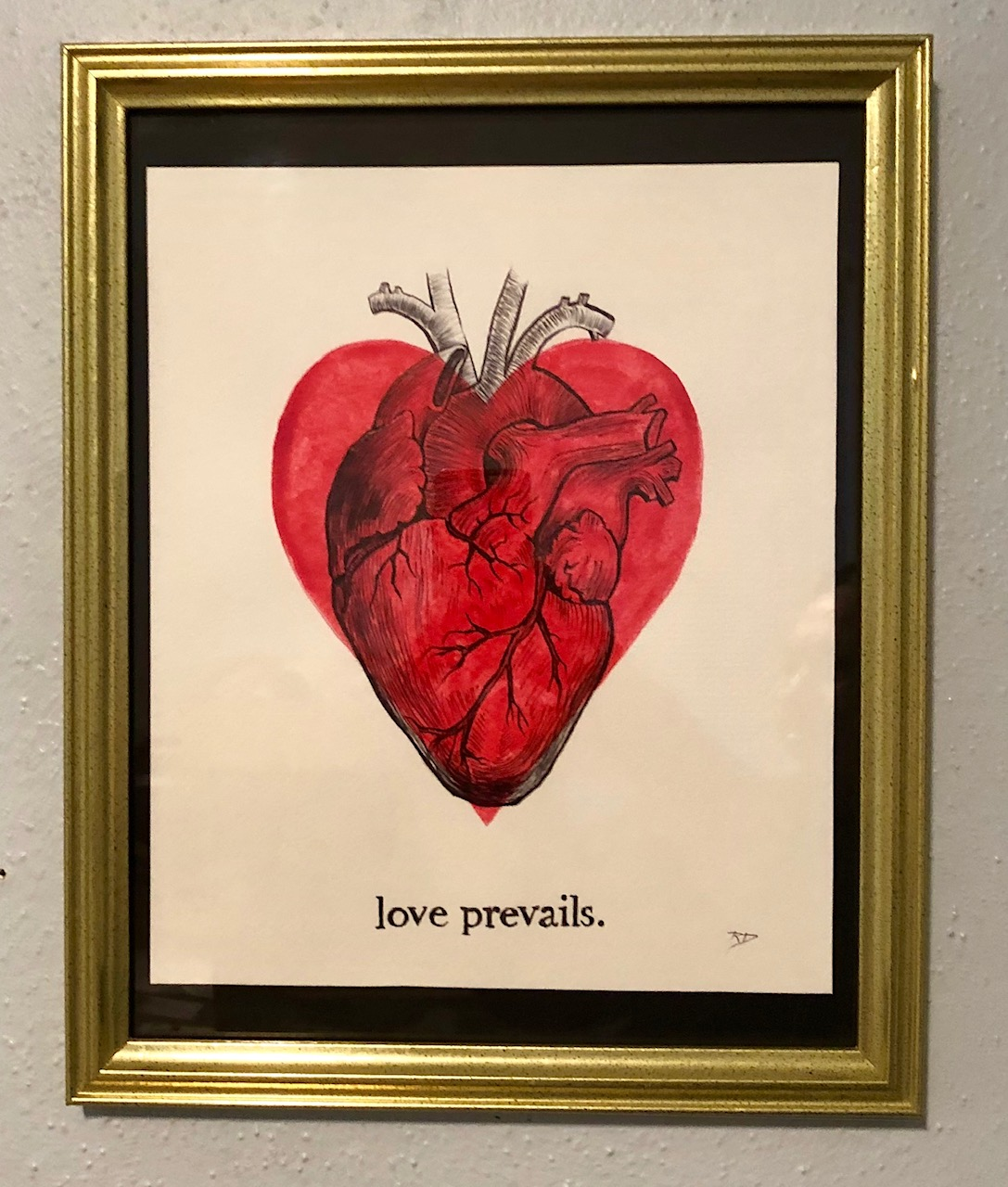 love prevails. ~ORIGINAL drawing