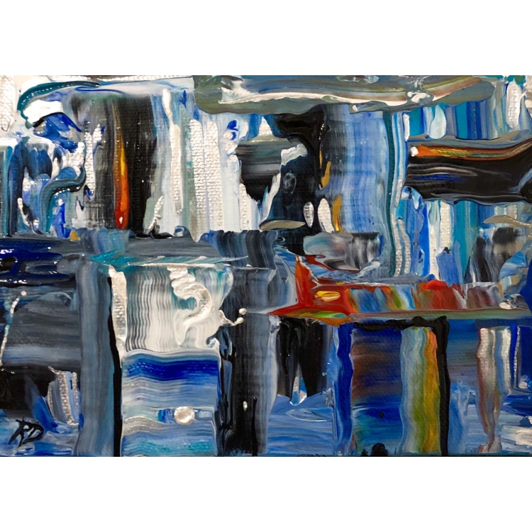 Winter ~ ORIGINAL acrylic painting on canvas