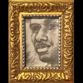 Dwayne – Framed ORIGINAL pencil drawing