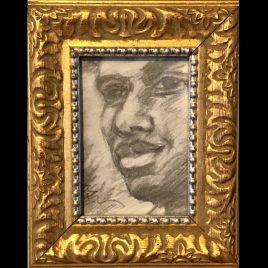 Dwayne – Framed ORIGINAL pencil drawing