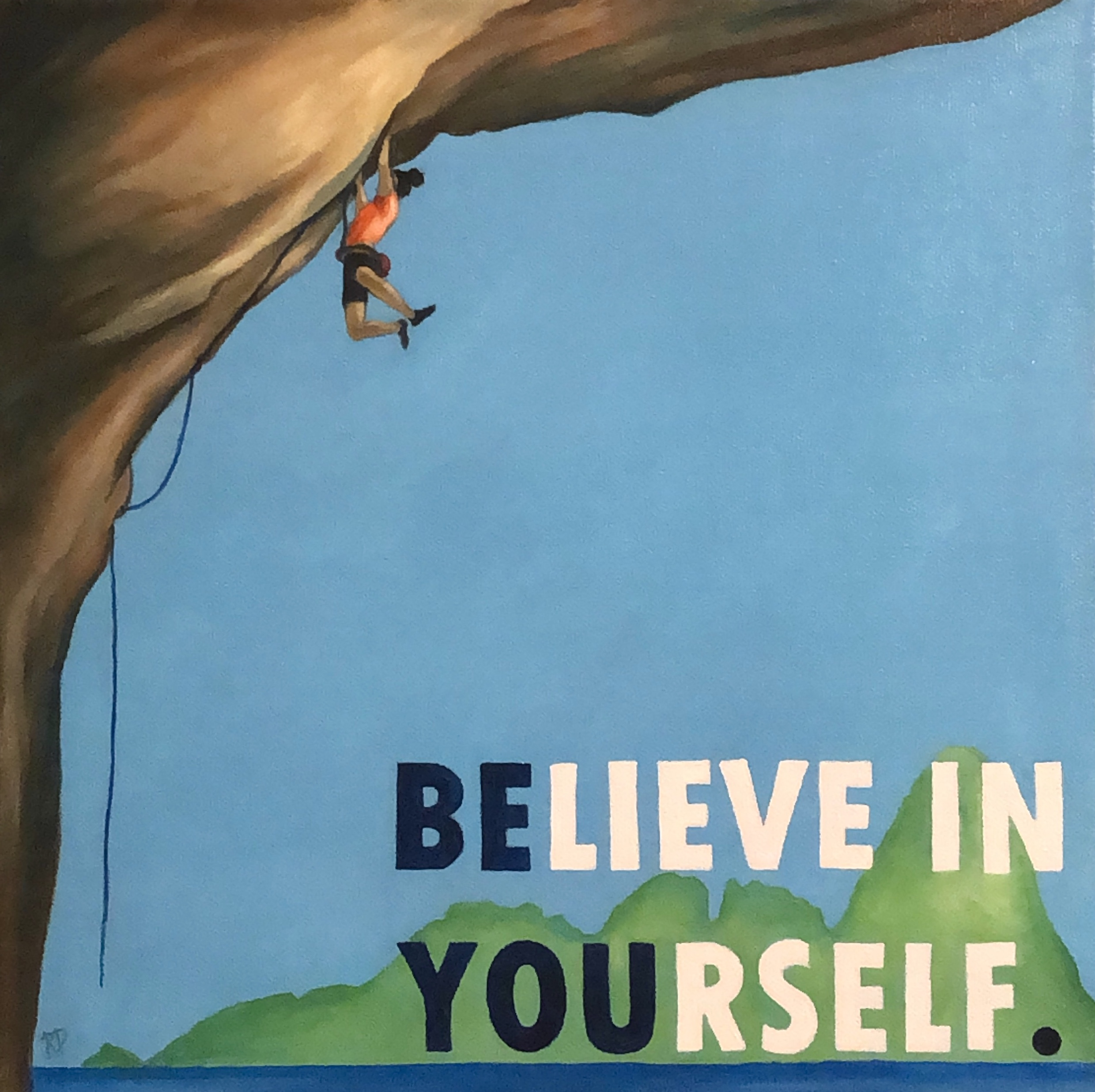 Be You ~ ORIGINAL acrylic painting on canvas