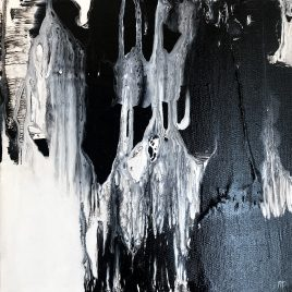 Noir et Blanc ~ ORIGINAL acrylic painting on canvas