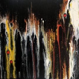 In the Crowd ~ ORIGINAL painting on canvas