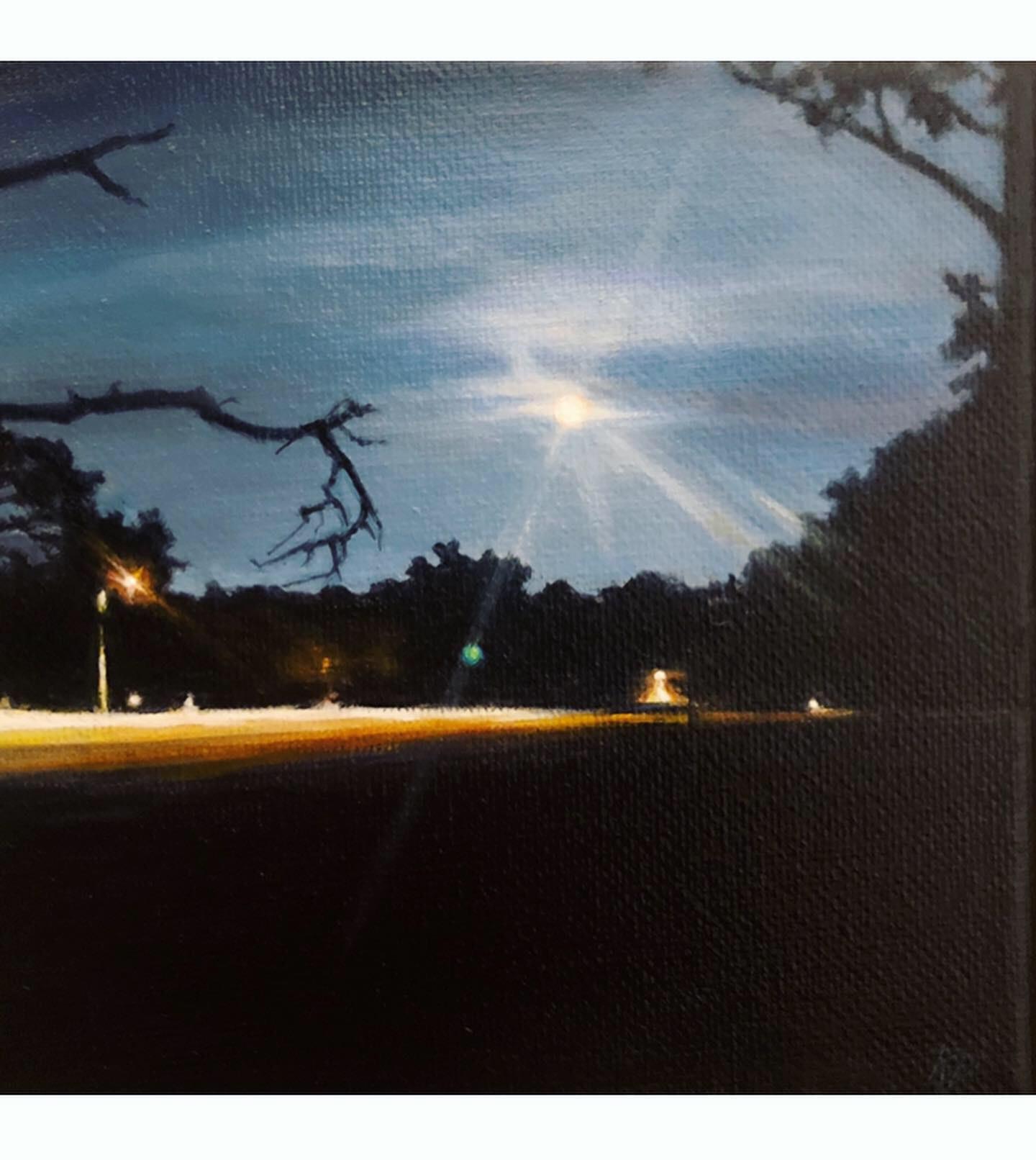 Aquarius Moon ~ ORIGINAL painting on canvas
