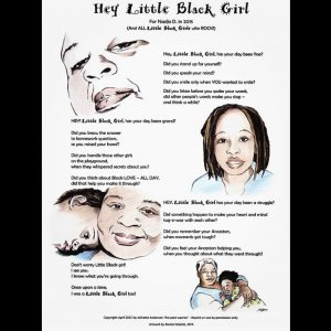 Hey Little Black Girl – limited edition signed prints