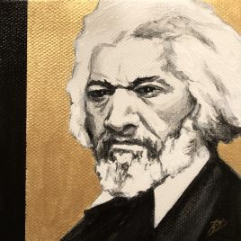 Frederick Douglass ~ ORIGINAL painting on canvas