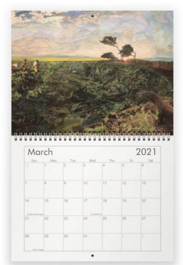 Image of a calendar by Rachel Dolezal