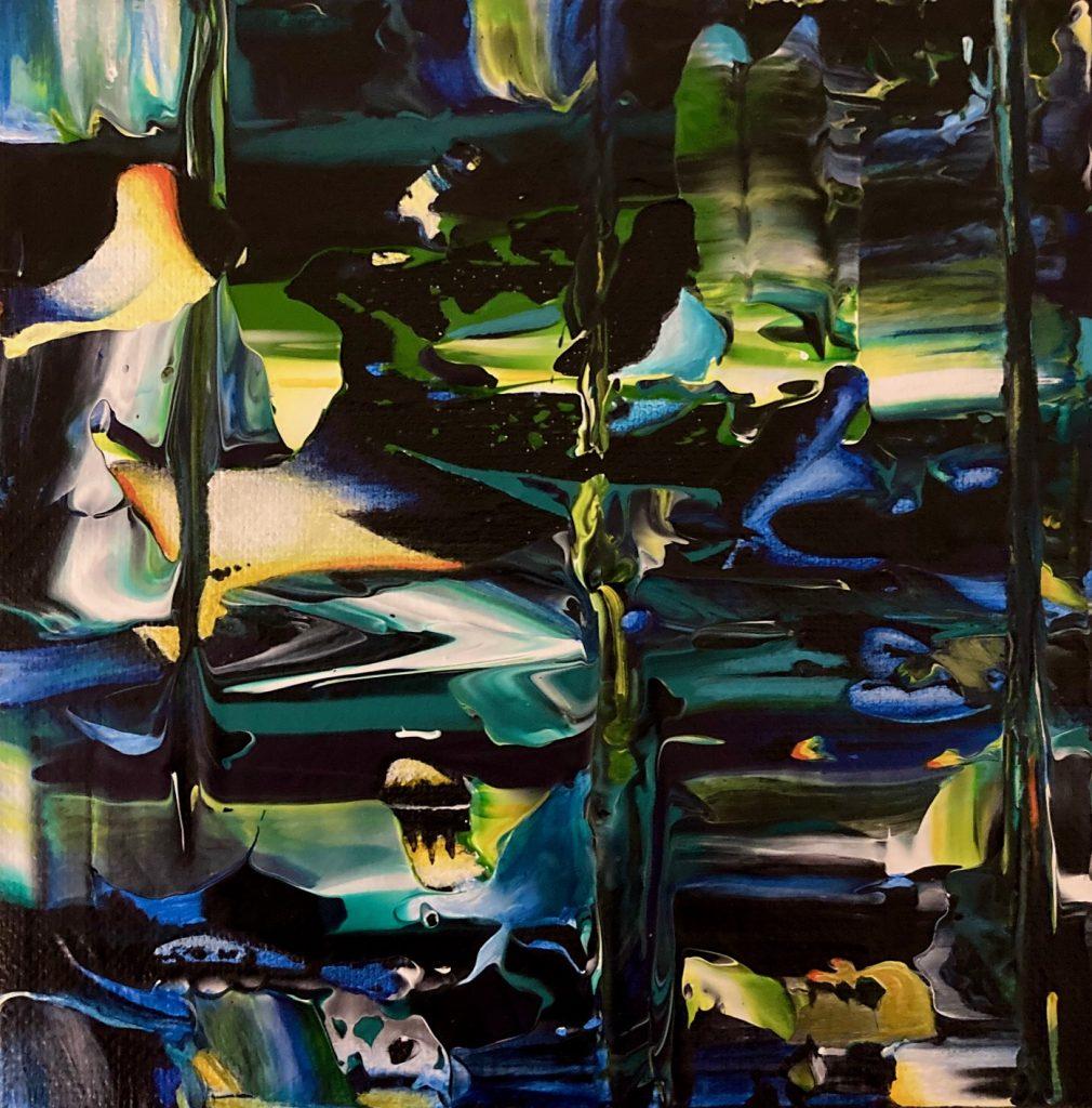 Jump the Shark ~ ORIGINAL painting on canvas