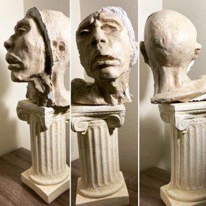 Misaligned Mind - ORIGINAL sculpture with pedestal