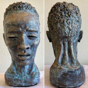 A Young Man Meditating – ORIGINAL Sculpture