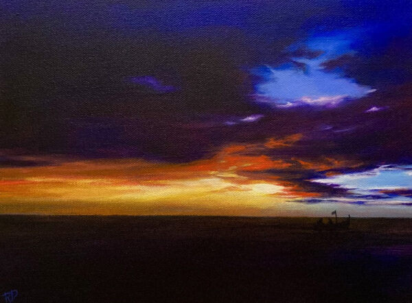 "An original painting by artist Rachel Dolezal entitled, ""Equillibrium"""